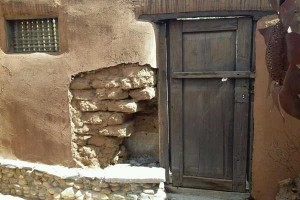 Adobe wall repair