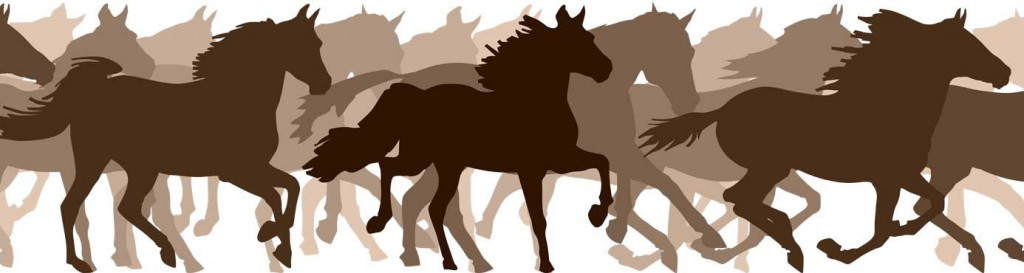 unning Horses in Silhouette